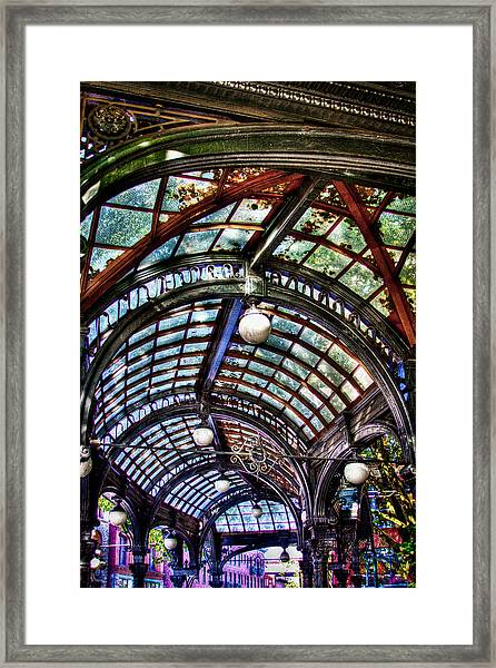 The Pergola Ceiling In Pioneer Square Framed Print