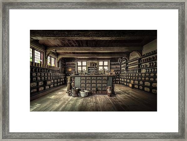 The Pharmacy Framed Print by Ole Moberg Steffensen