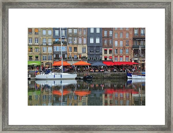 The Picturesque Harbor Of Honfleur Framed Print