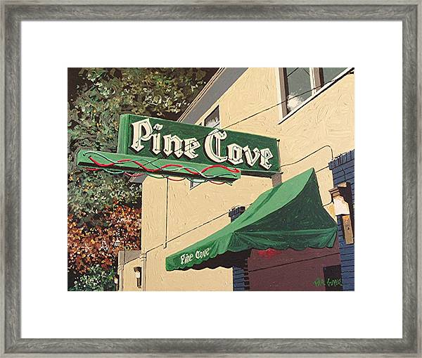 The Pine Cove Framed Print by Paul Guyer