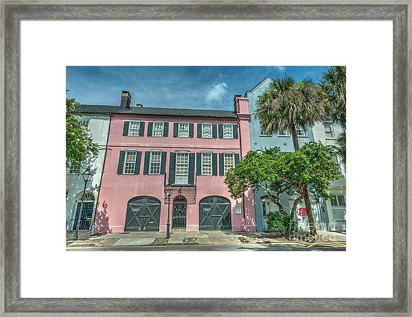 The Pink House Framed Print