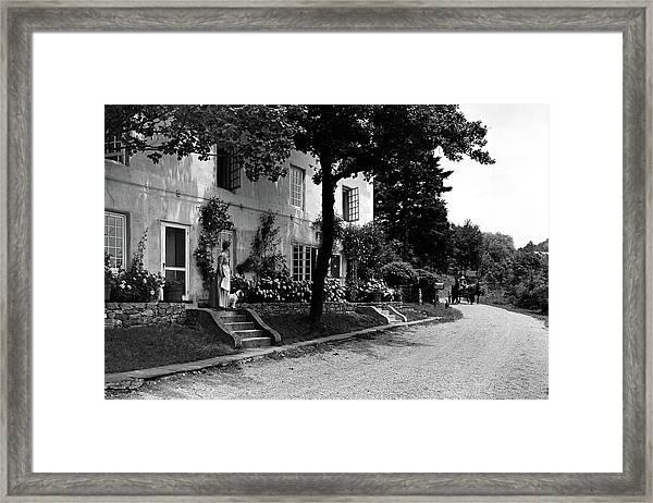 The Platt's House In New Jersey Framed Print