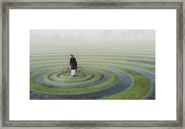 The Point Of No Return Framed Print by Esther Margraff