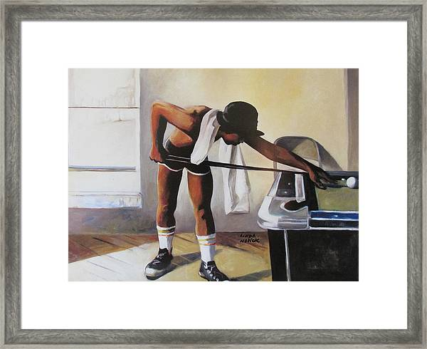 The Pool Player Framed Print