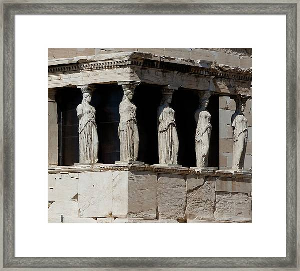 Framed Print featuring the photograph The Porch Of Maidens by Lorraine Devon Wilke