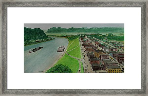 The Portsmouth Ohio Boneyfiddle District 1948 Framed Print