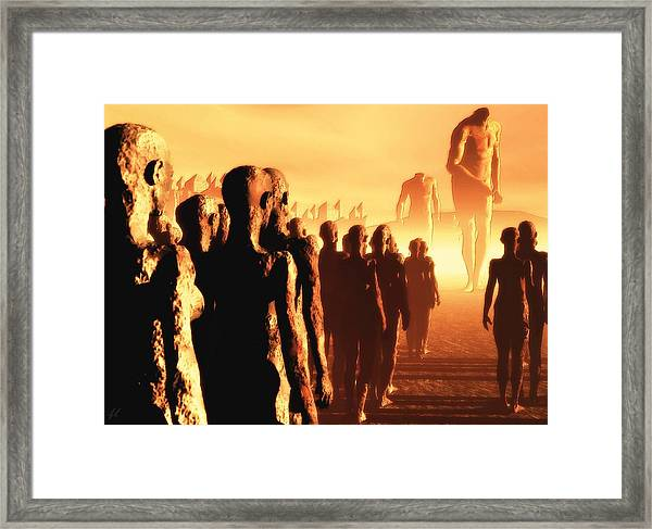 The Post Apocalyptic Gods Framed Print
