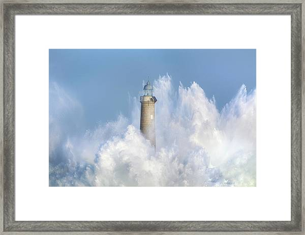 The Power Of The Sea. Framed Print