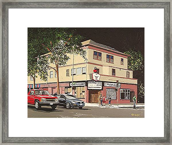 The Press Club Framed Print by Paul Guyer