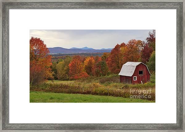 The Pretty Little Barn Eighteen Miles From Jay Peak Framed Print