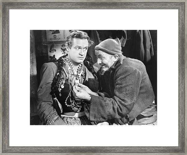 The Princess And The Pirate, From Left Framed Print