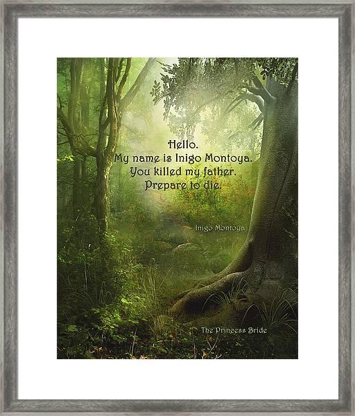 The Princess Bride - Hello Framed Print