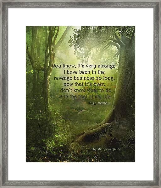 The Princess Bride - Revenge Business Framed Print