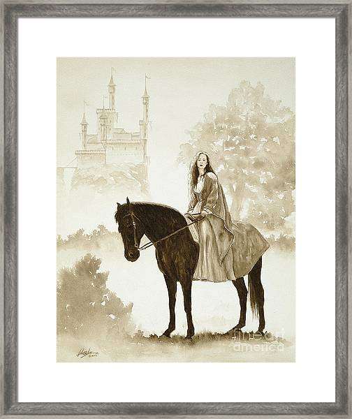 The Princess Has A Day Out. Framed Print