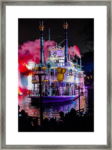 The Mark Twain Disneyland Steamboat  Framed Print
