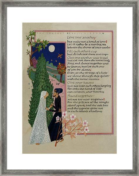 The Prophet - Kahlil Gibran  Framed Print