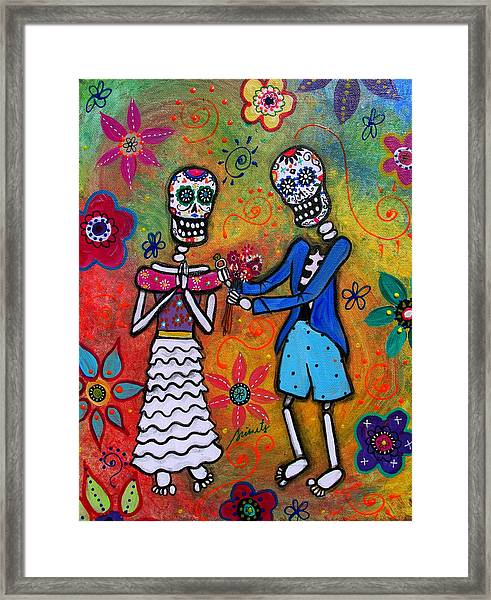 The Proposal Day Of The Dead Framed Print