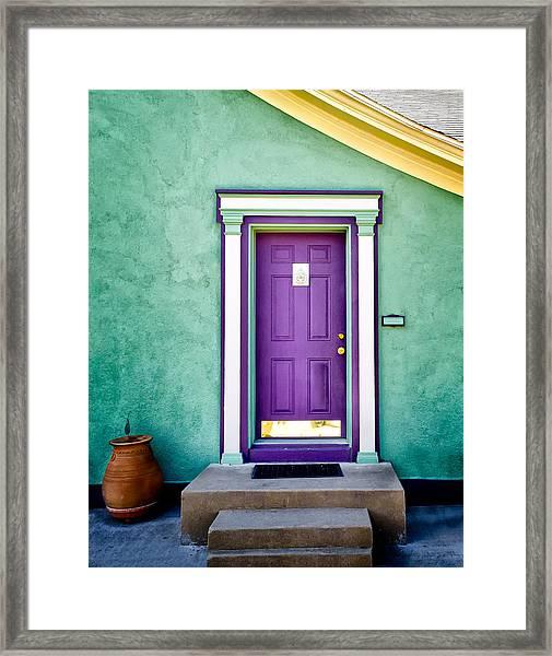 The Purple Door Framed Print
