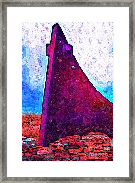 The Purple Pink Wedge Framed Print