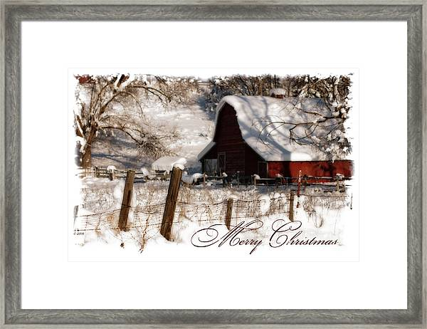 The Quiet - A Christmas Card Framed Print