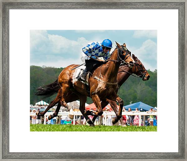 The Race Is On Framed Print
