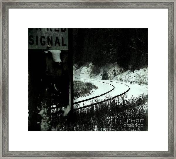 The Rail To Anywhere Framed Print