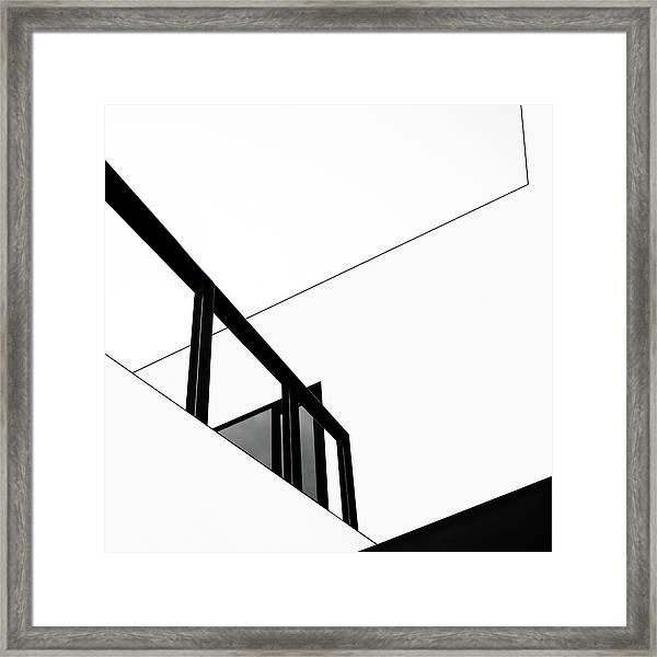 The Railing Framed Print