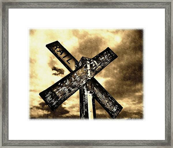 The Railroad Crossing Framed Print