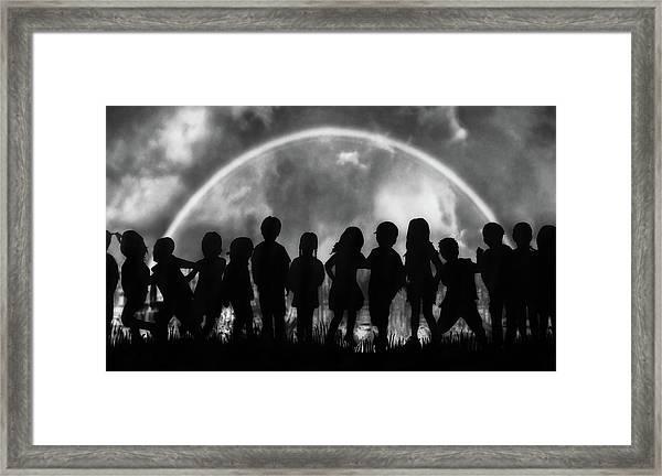 The Rainbow Of Childhood Framed Print by Yvette Depaepe