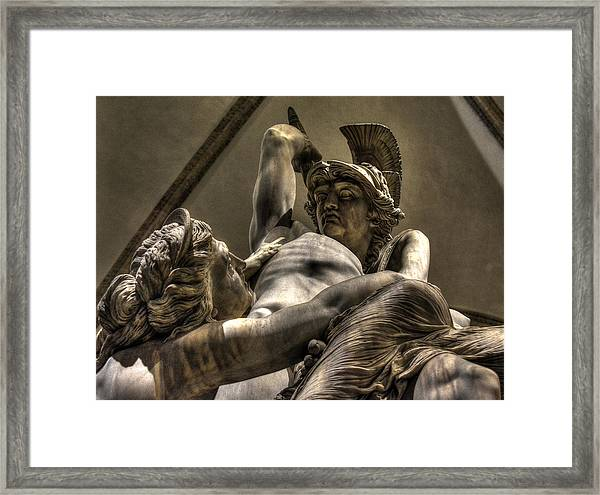 The Rape Of Polyxena Framed Print