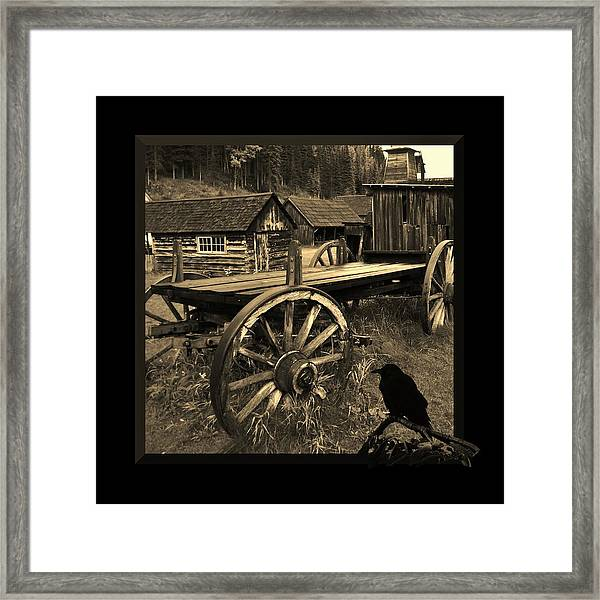 The Raven Flies Straight Framed Print