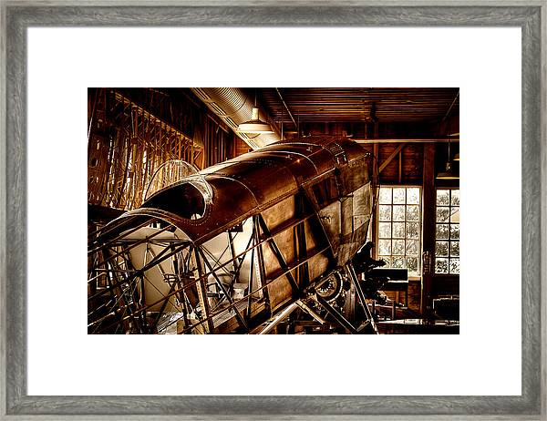 The Red Barn Of The Boeing Company II Framed Print