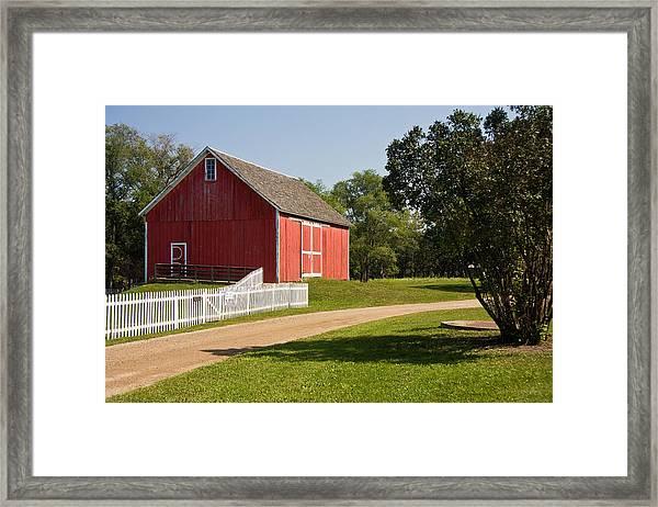 The Red Barn Framed Print