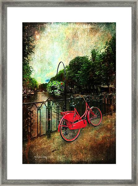 The Red Bicycle Framed Print