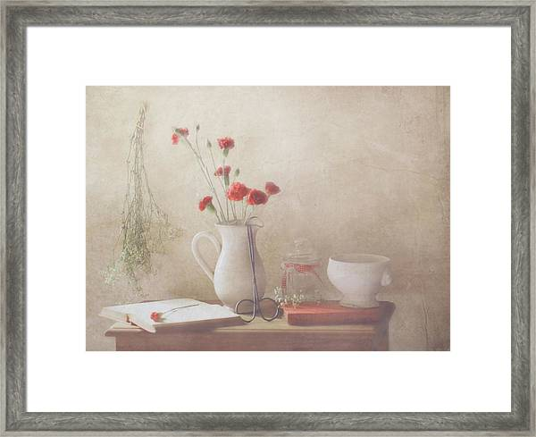 The Red Flowers Framed Print