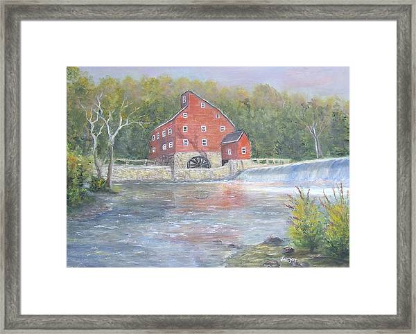 The Red Mill Framed Print