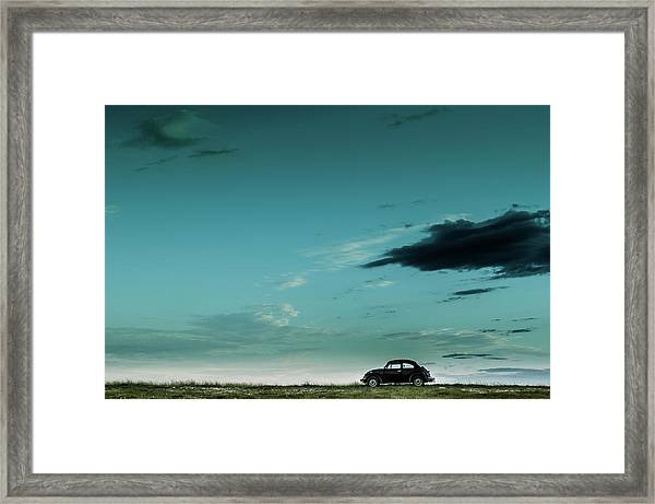 The Red Vw Beetle Framed Print
