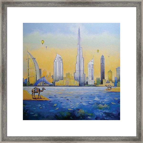 The Reflection Camel Framed Print