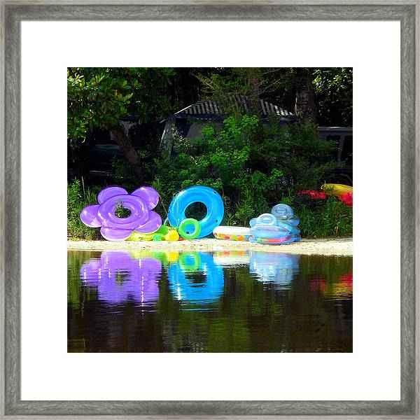The Reflection Of Fun Framed Print