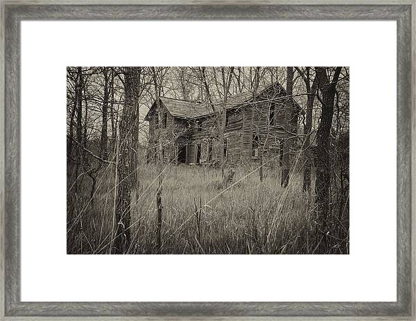 The House In The Woods Framed Print