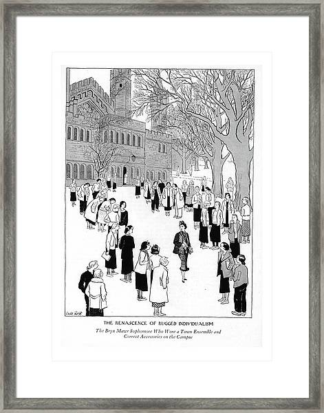 The Renascence Of Rugged Individualism  The Bryn Framed Print
