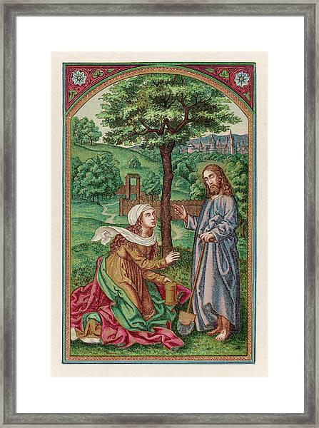 The Resurrected Jesus Reveals  Himself Framed Print