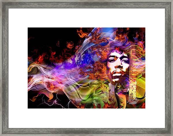 The Return Of Jimi Hendrix Framed Print