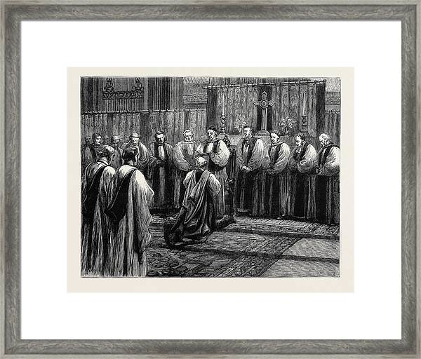 The Revived Bishopric Of Truro Framed Print