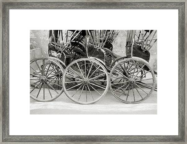 The Rickshaws Framed Print