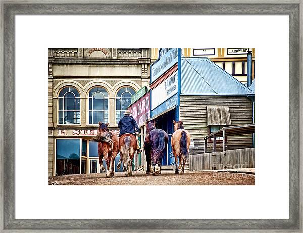 The Rider Framed Print
