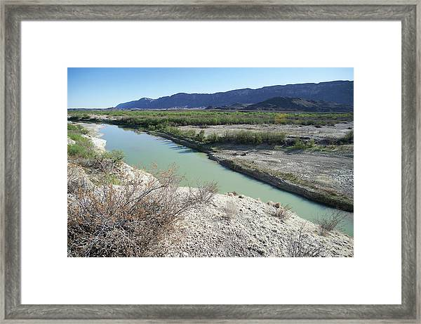 The Rio Grande River At Big Bend Framed Print