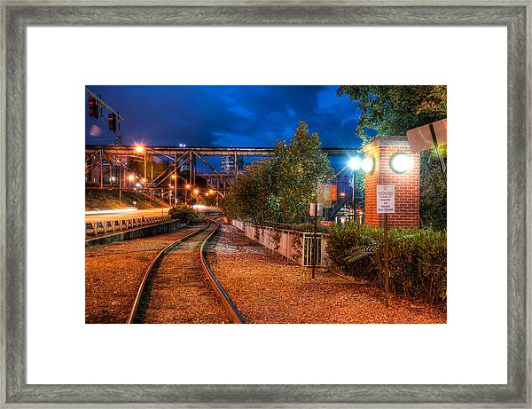 The River Railroad Framed Print