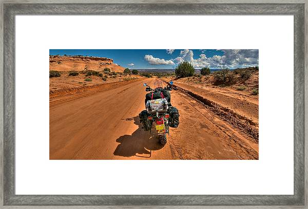 Framed Print featuring the photograph The Road Ahead by Britt Runyon