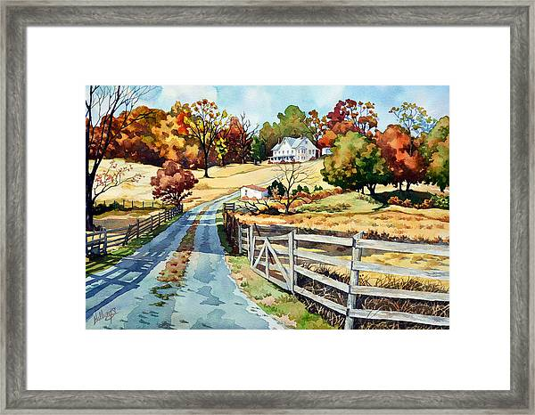 The Road To The Horse Farm Framed Print